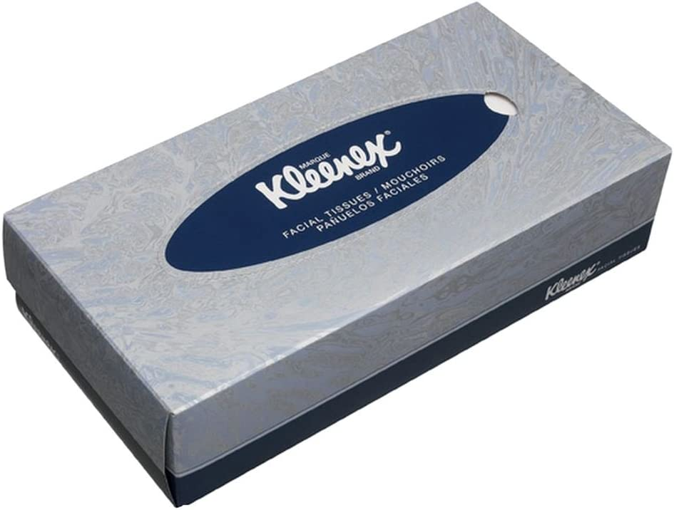 Box of 100 Kleenex Facial Tissues White