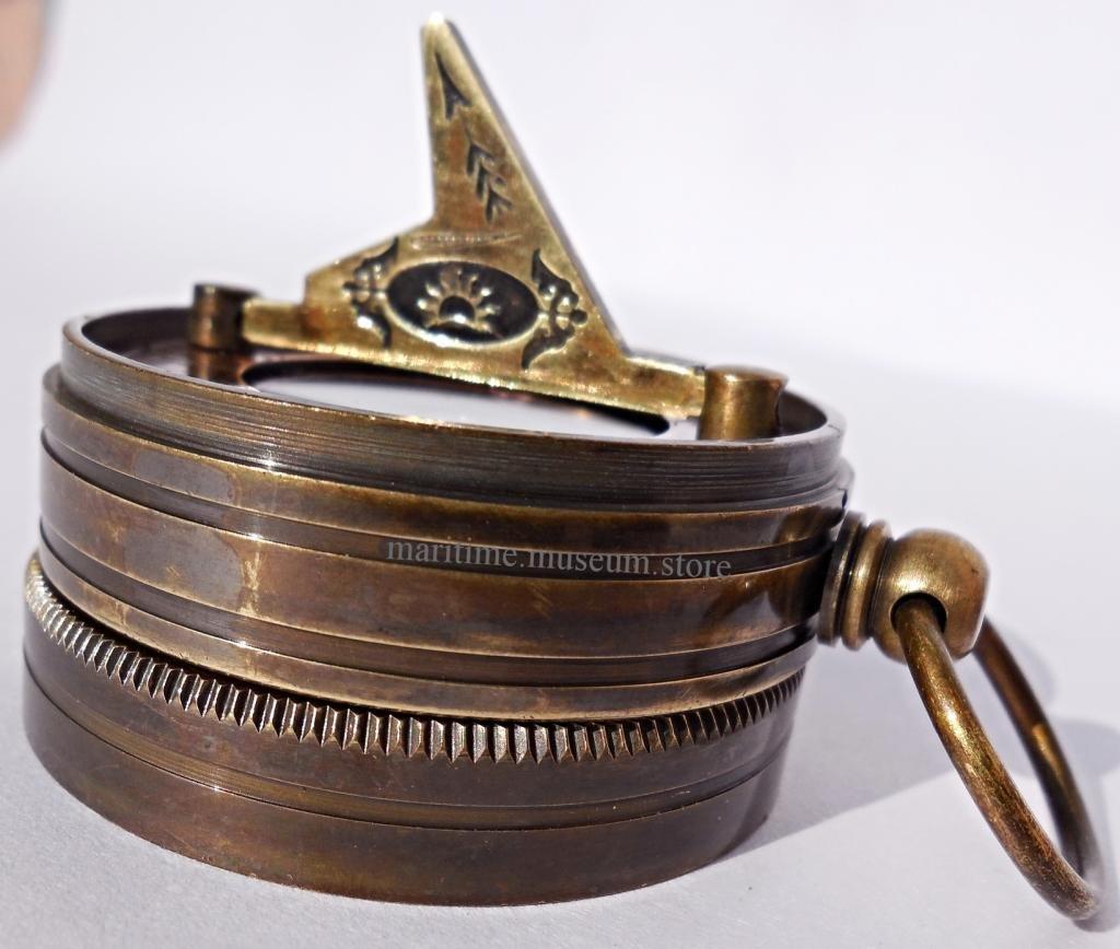 MAH Pocket Brass Sundial Compass, Both Side Work on The Bird. C-3005 by MAH (Image #5)