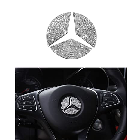 Mercedes Benz Accessories >> 1797 Mercedes Benz Accessories Interior Decorations Steering Wheel Logo Cover Bces Cla Cls Gla Glc Gle Glk Gls Class Parts Modification Metal Crystal