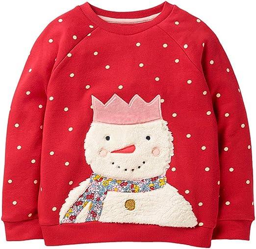 Baby Christmas Sweatshirt Toddler Girls Boys Sweater Pullover Long Sleeve Shirts Top Crewneck Blouse 1-5Years