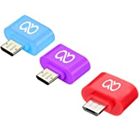 Advent Basics Pack Of 3 Little Adapter Micro USB OTG to USB 2.0 Adapter (Mixcolour)