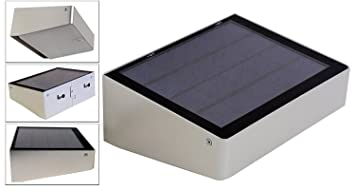 solar powered 53 led compact dusk to dawn lights for entrances