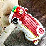 NORBEE Chinese New Year Costume Lion Head Dance Clothes for Pet Dog