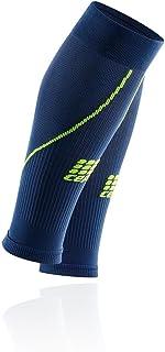 Cep Hommes Calf Sleeves 2.0 Vêtements De Course Manchons De Compression Bleu Foncé - Vert Clair