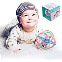 TEMI Baby Rattle and Sensory Teether Ball | Perfect Activity Toy for Newborn Teething and Motor Skill Development | Suitable for Infants, Boys and Girls Early Education (0-18 Months)