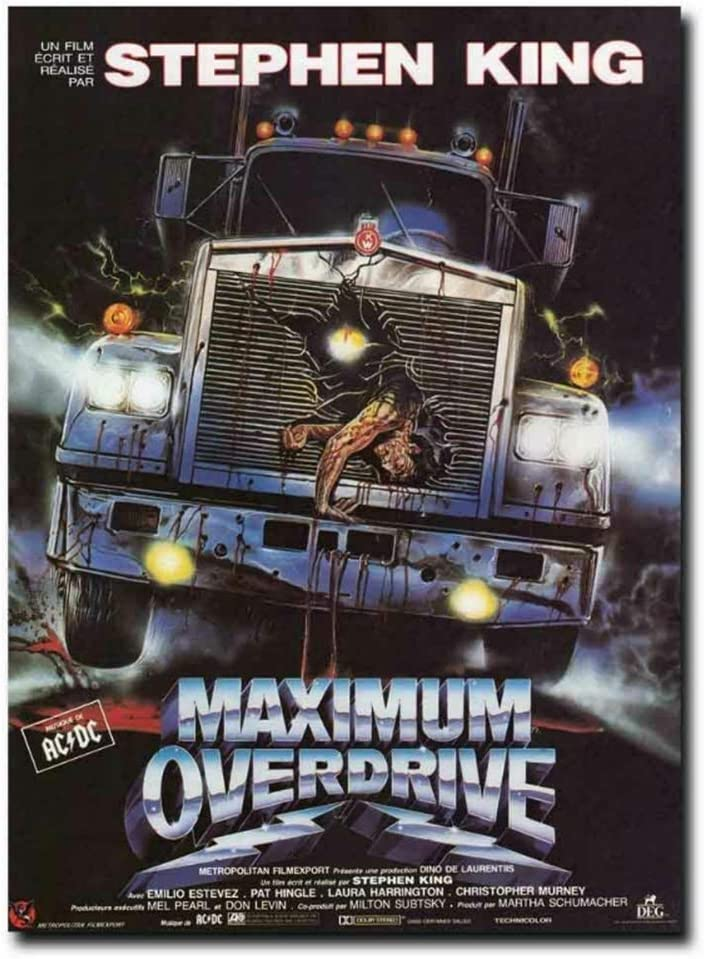 Sanwooden Maximum Overdrive 90's Stephen King Movie Painting Art Poster Print Canvas Home Decor Picture Wall Print -50x75cm No Frame