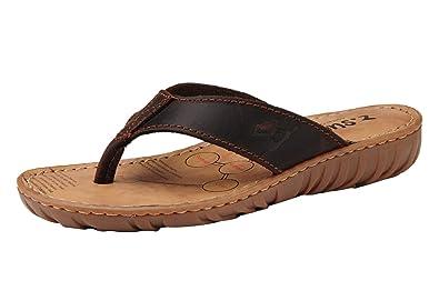 Insun Damen Sandalen Zehentrenner Normal Flach Ohne Verschluss Pantoletten Sandaletten Hellbraun 35 fPLBf3Rq1
