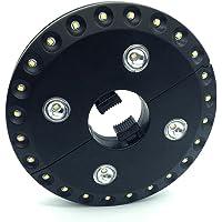 Dooppa - Lámpara LED para sombrilla de patio, 28 unidades, funciona con pilas y 2 interruptores de intensidad