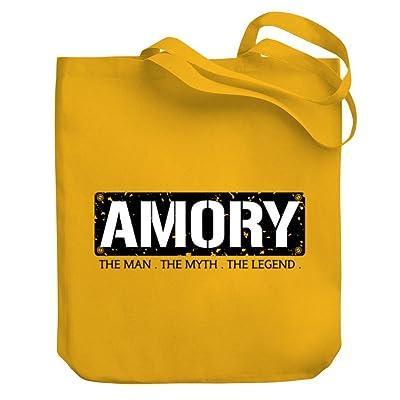 Teeburon Amory THE MAN THE MYTH THE LEGEND Canvas Tote Bag