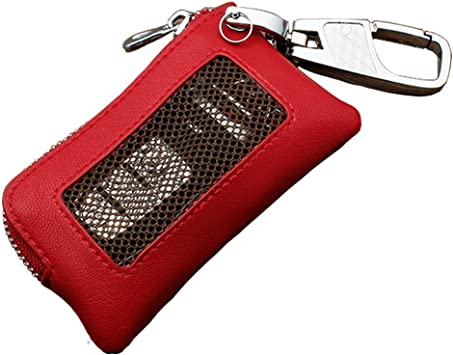 Genuine Crocodile Skin Keychains Key Holder Ring Zip Wallet Black Free Ship