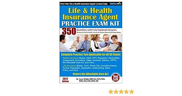 Amazon.com: Life & Health Insurance Agent Practice Exam Kit - 2017 ...