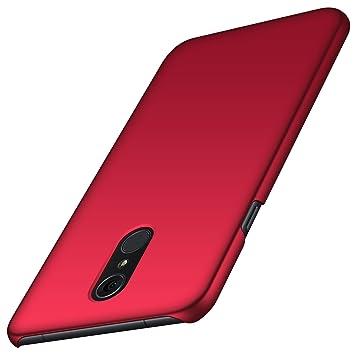 anccer Funda LG Q7/Q7+/Q7a [Serie Colorida] [Ultra-Delgado] [Ligera] Anti-rasguños Estuche para Carcasa LG Q7/Q7+/Q7a (Rojo Liso)