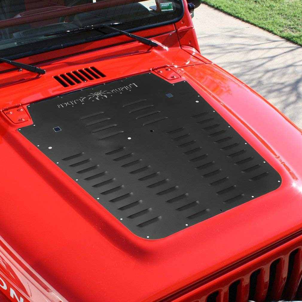 Vented Hood Louver Kit Car Styling Car Accessory for Jeep for Wrangler 97-02 IOOkME-H Louver Aluminum Alloy Louver