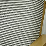 Cottage Stripe Caviar Fitted Mattress Cover Twin 302