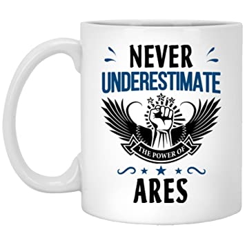 Amazon Never Underestimate The Power Of Ares Coffee Mug