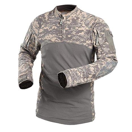 QAZW Ropa táctica Táctico Camisa Ejército Hombres Militar ...