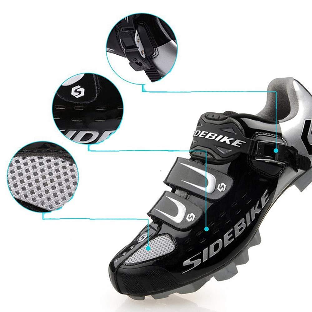 Atmungsaktiv Windabweisend Mountainbikeschuhe SIDEBIKE Radfahren Schuhe f/ür Erwachsene Fahrradschuhe mit D/ämpfung Einlegesohle