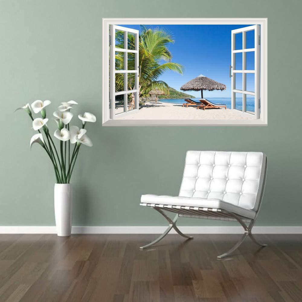 BakeLIN Wandaufkleber Wandtattoo 38 x 58 cm Emulation Landschaft 3D Wandsticker Wohnzimmer Schlafzimmer Kinderzimmer Haus Dekoration