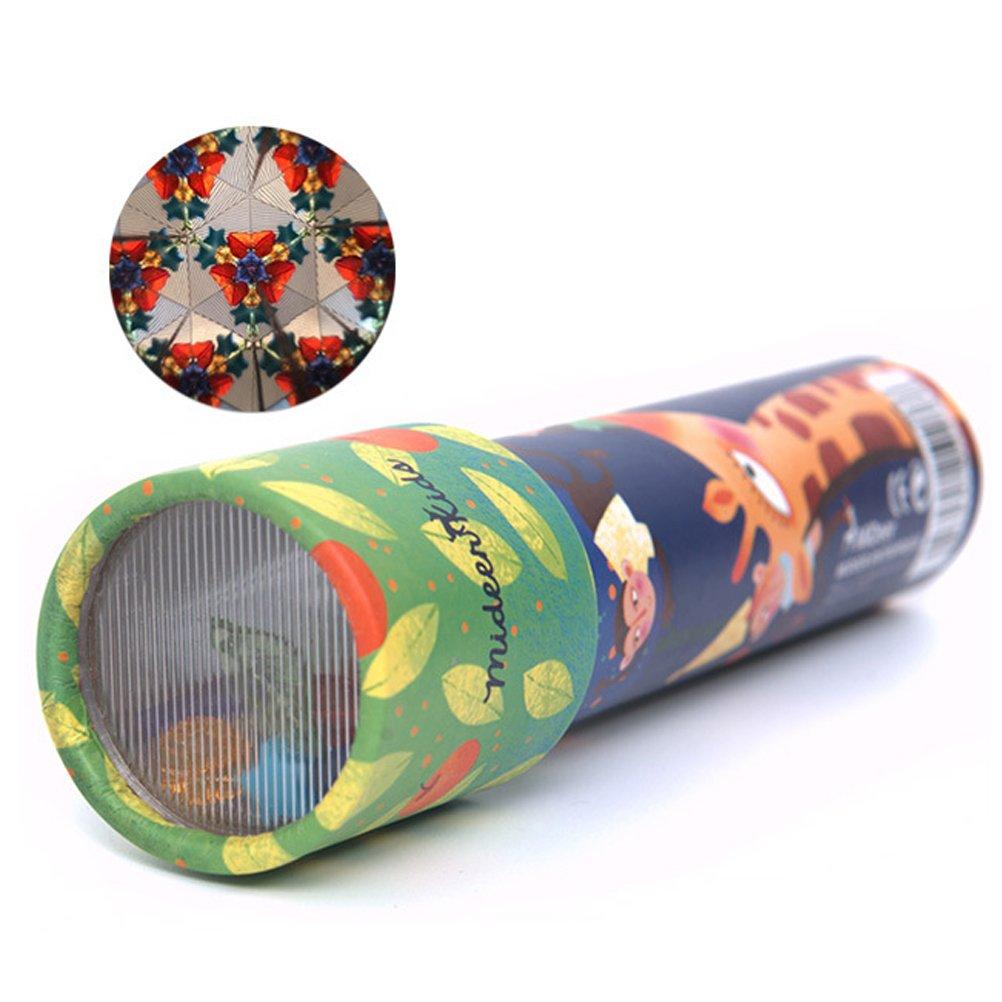 TOYMYTOY 2pcs Niños Caleidoscopio Ciencia Educativa Desarrollo Juguete Niños Papel Caleidoscopio Regalo Perfecto (Tipo 1)