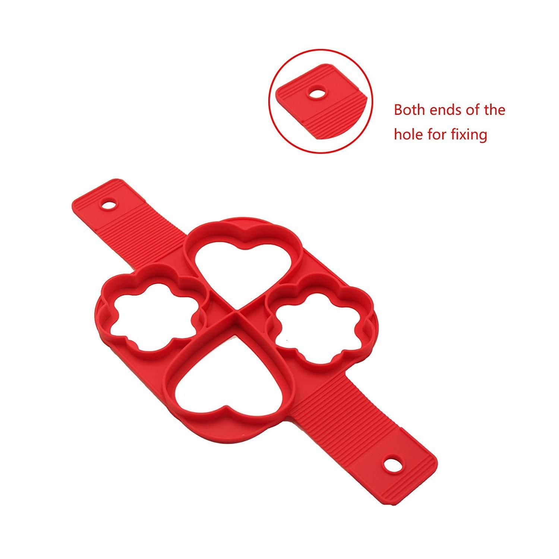 BUWANT 2 moldes de Silicona para Hornear DIY Pancake Moldes: Amazon.es: Hogar