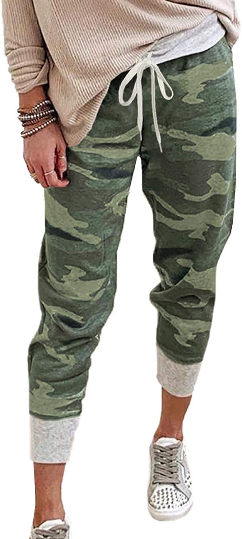 Shawhuwa Womens Pants Jogger Sweatpants Casual Loose Drawstring Waist Jogging Pants with Pockets: Clothing