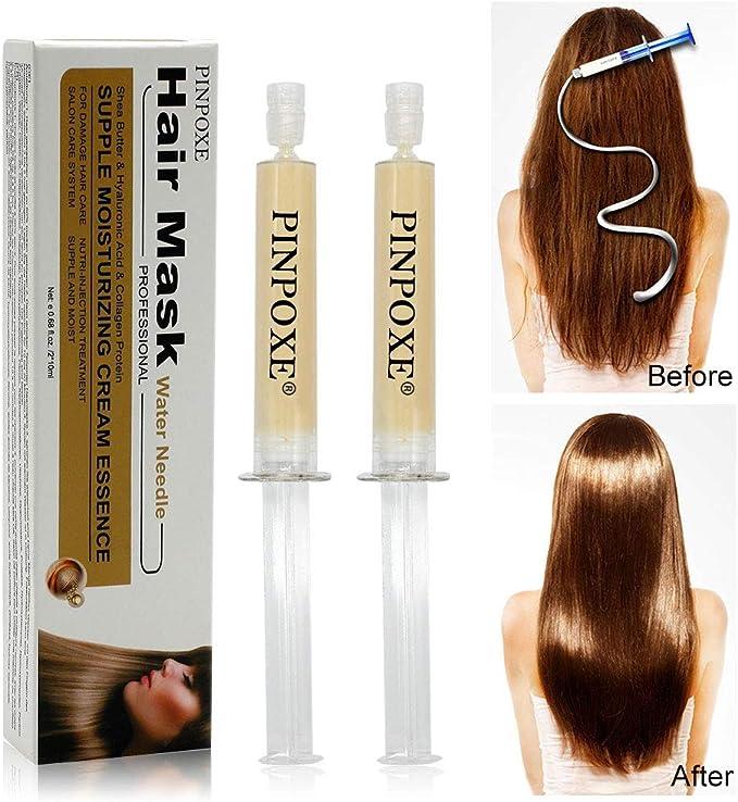 Tratamiento profesional para el cabello, kit de tratamiento para uso doméstico, calidad de salón, alisado de pelo, secar al aire libre, 2 piezas…