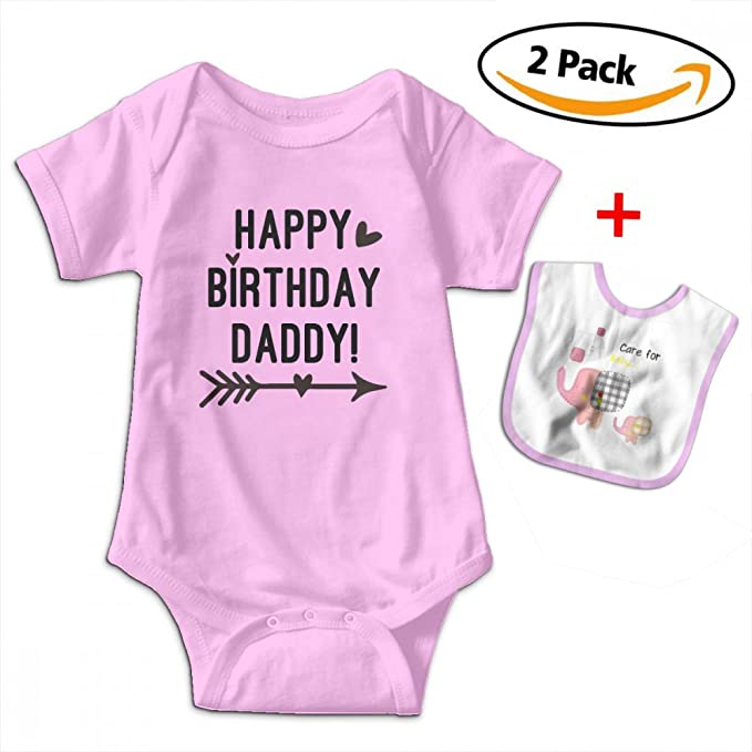 Amazon Benunit Dad Birthday Gift Happy Daddy Unisex Baby Cotton Short Sleeve Jumpsuit Shower Gifts One Piece Clothing