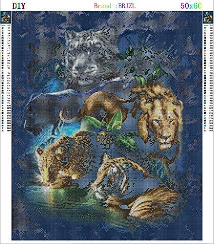 5D Diamond Painting Beast Union Embroidery Diamond Mosaic Picture Rhinestones Craft Needlework Wall Sticker Home Decor(19.68''23.62'') by BBJZL (Image #5)