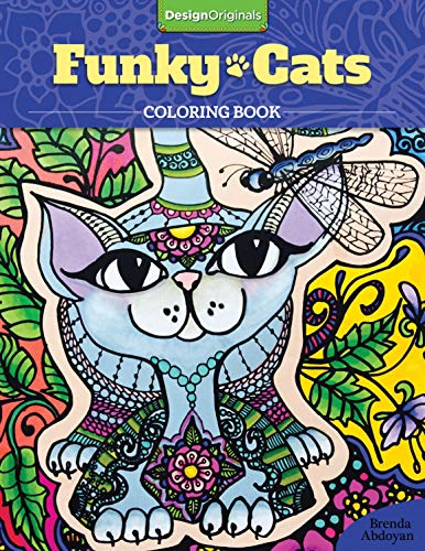 Funky Cats Coloring Book -