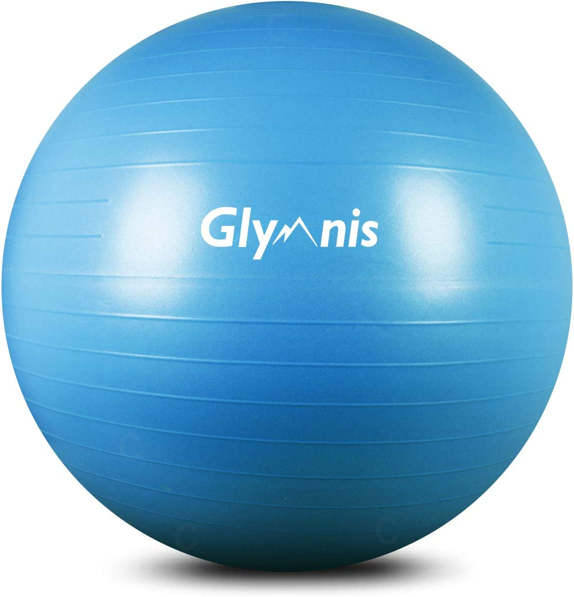 Sitzball Gummi in 6 Farben bis 500 kg belastbar Pumpe 55 cm 65 cm 75 cm GORILLA SPORTS/® Gymnastikball inkl