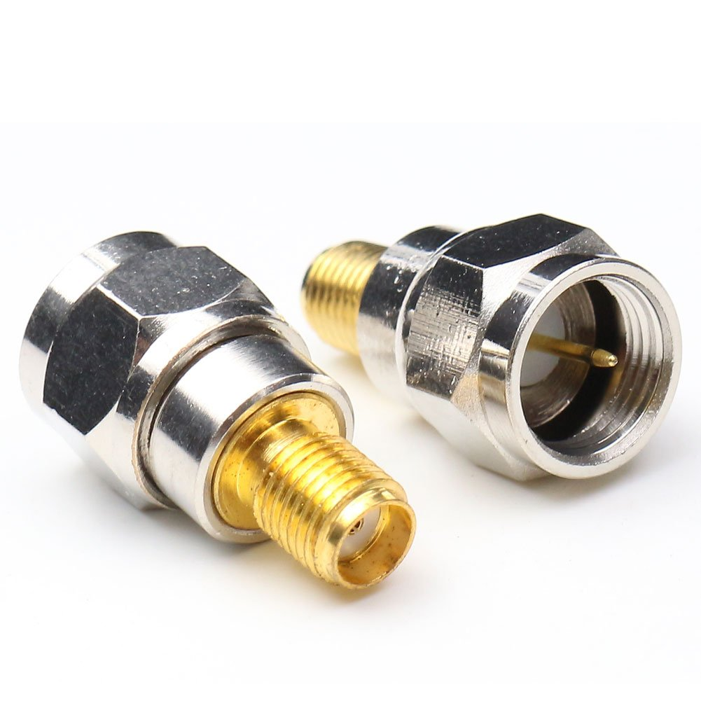 ANHAN SMA Female to 75 Ohm F Male Adapter RF Coax Coaxial Connector Adapter F//M Straight Adapter Cable Connector 2Packs