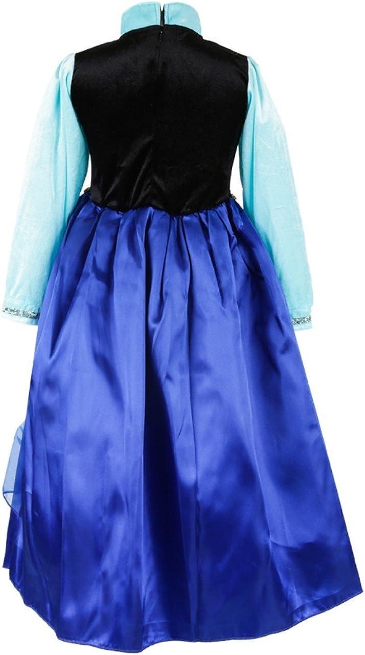 Nice Sport Robes Enfant Princesse Anna La Reine des Neiges Cosplay Costume D/éguisement Cadeau Anniversaire//No/ël//Carnaval//Halloween