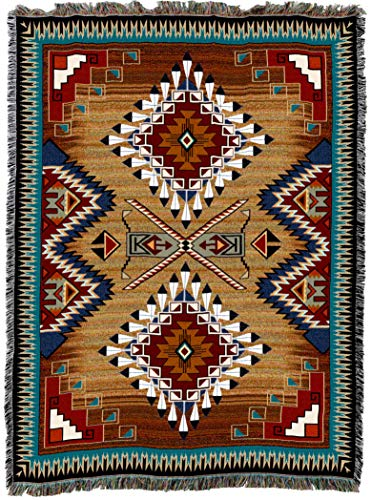 - Pure Country Weavers | Brazos Southwest Blanket | Woven Throw with Fringe Cotton USA 72x54