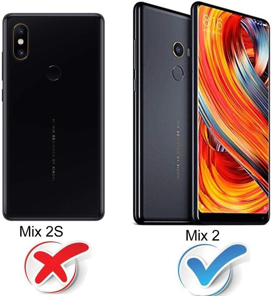 Solaxi Funda Xiaomi Mi Mix 2 Carcasa Mate 3 en 1 360 Grados Cuerpo ...
