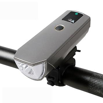 MiaoMiao MIAO Faros delanteros para bicicleta, linterna de inducción inteligente, USB, equipo de