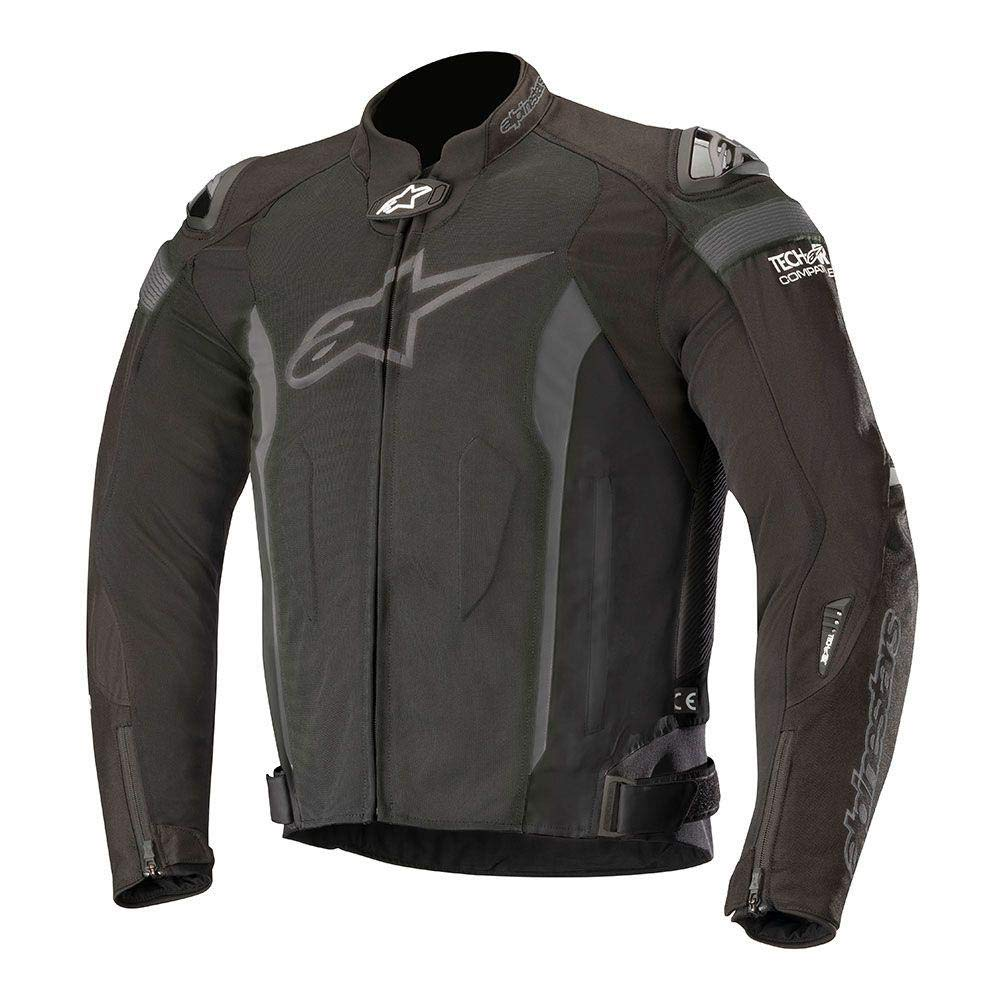 M, Black Black T-Missile Air Textile Motorcycle Jacket for Tech-Air Race Airbag System Alpinestars 2820-4414
