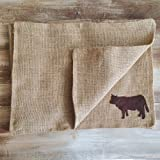 Set of 4- Burlap Farm Animal Themed Placemats- Double Sided/Reversible