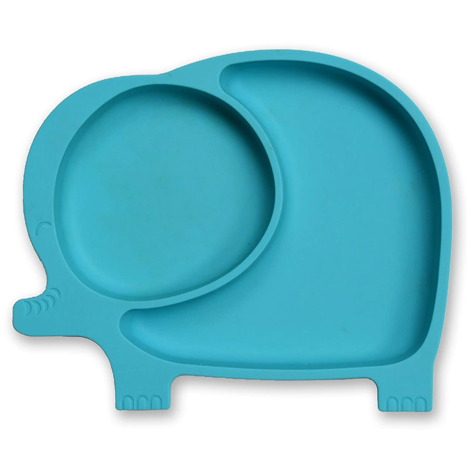Silicone Suction Plate | Divided Plate for Babies, Toddlers, Kids | Plate Stays Put with Strong Suction Base | 100% Silicone, BPA, Phthalate, PVC, BPS & Latex Free | Microwave, Dishwasher, Oven Safe