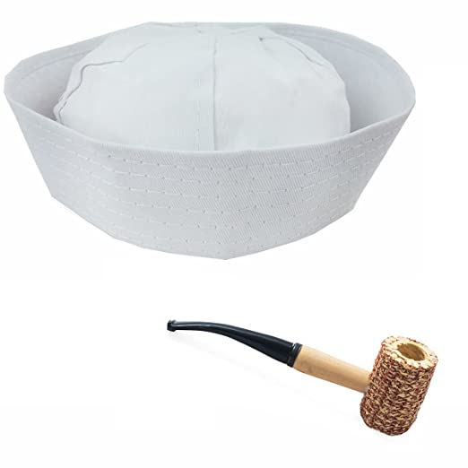 76005ad4b9e Amazon.com  Tigerdoe Sailor Hat - 2 Pc Set - Sailor Cap   Pipe ...