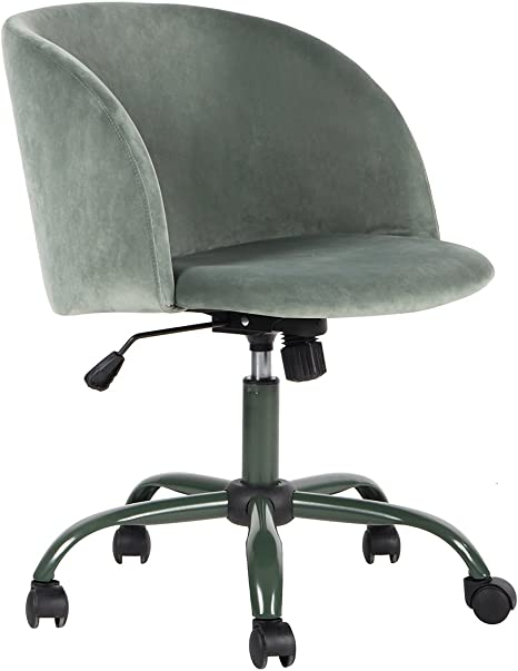 Amazon Com Eggree Modern Velvet Computer Desk Chair Mid Back Swivel Adjustable Accent Home Office Task Chair Executive Chair With Soft Velvet Seat Armrest Cactus Home Kitchen