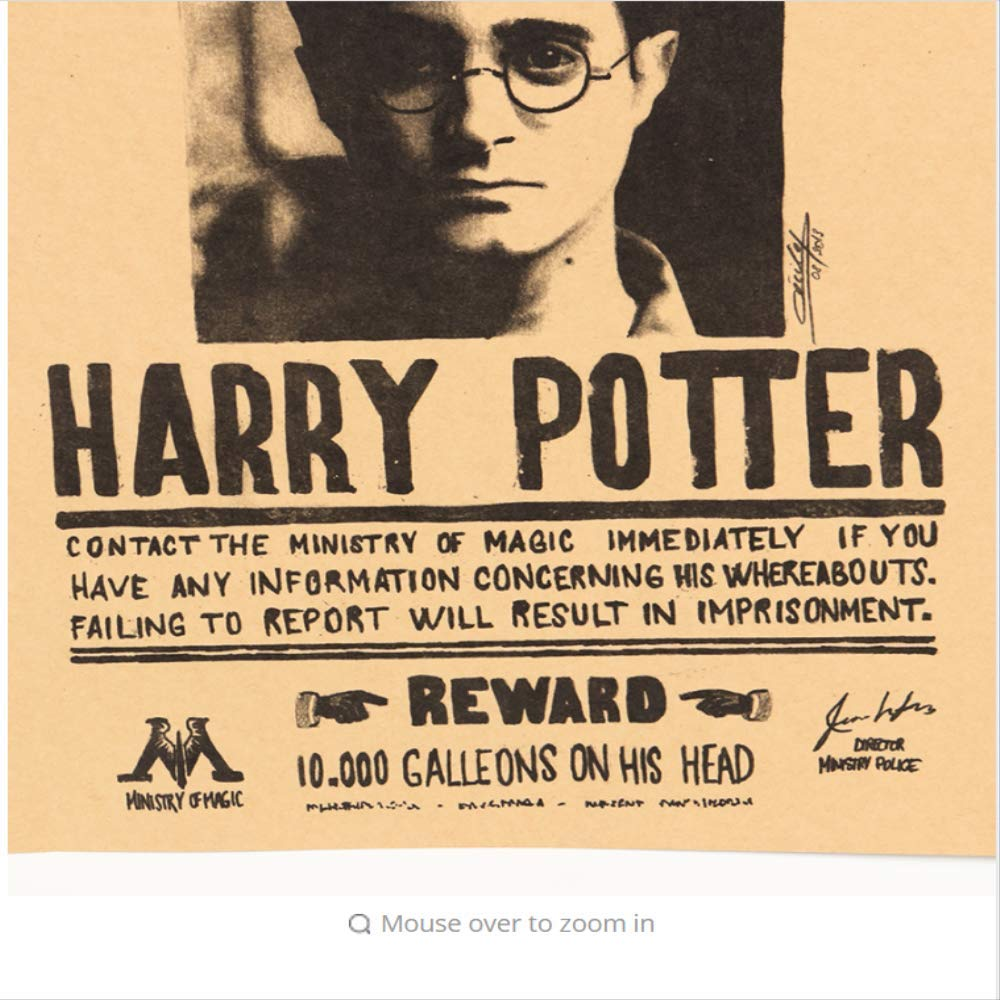 hzcl Harry Potter Indeseables No 1 Vintage Retro Kraft ...