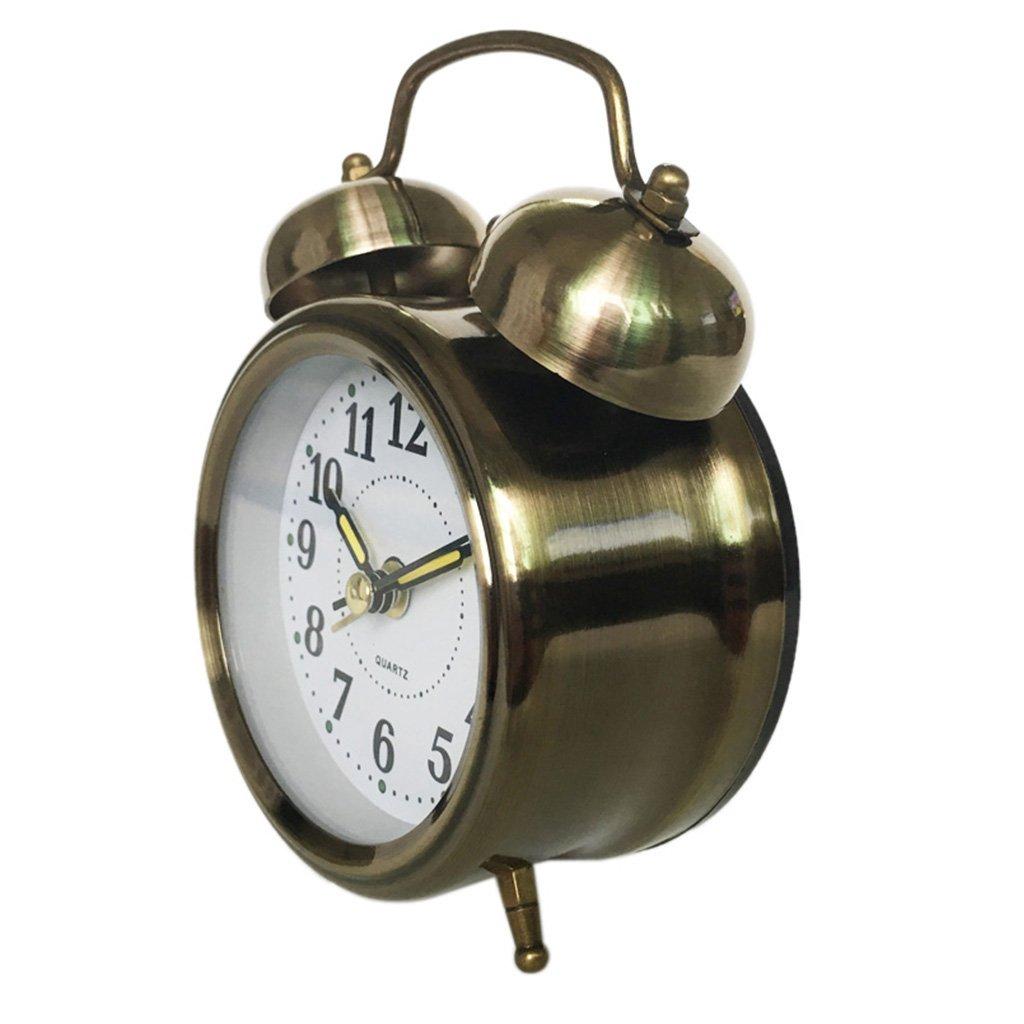 Uhr Aufziehwecker Glockenwecker Nostalgie Doppelglocken Wecker Vintage Retro NEU