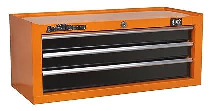 DJM Direct naranja medio oeste 3 cajones caja de herramientas caja de almacenaje rodamientos de bola