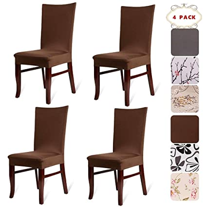 Charmant BEKVÄMTLife Stretch Dining Room Chair Covers Floral Chair Seat Protector  Washable Chair Slipcovers For Parsons Chair