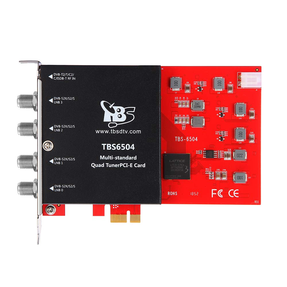 TBS6504 DVB-S2X S2 S T2 T C2 C Digital TV Quad Tuner Card for Live TV