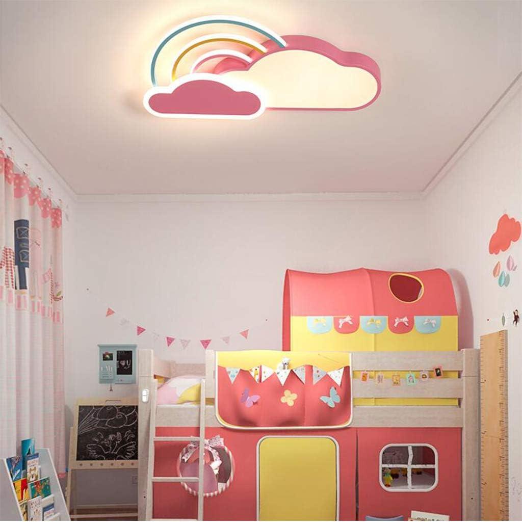 Plafoniera A LED Cameretta Per Bambini Nuvole Bianche Arcobaleno Ragazzi E Ragazze Plafoniere Da Incasso Lampada Da Soffitto Per Bambini Camera Da Letto Per Cartone Animato Paralume Acrilico,Blu