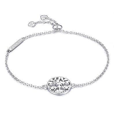 Bracelet argent de l'Arbre de Vie en argent pour femme avec boite cadeaux
