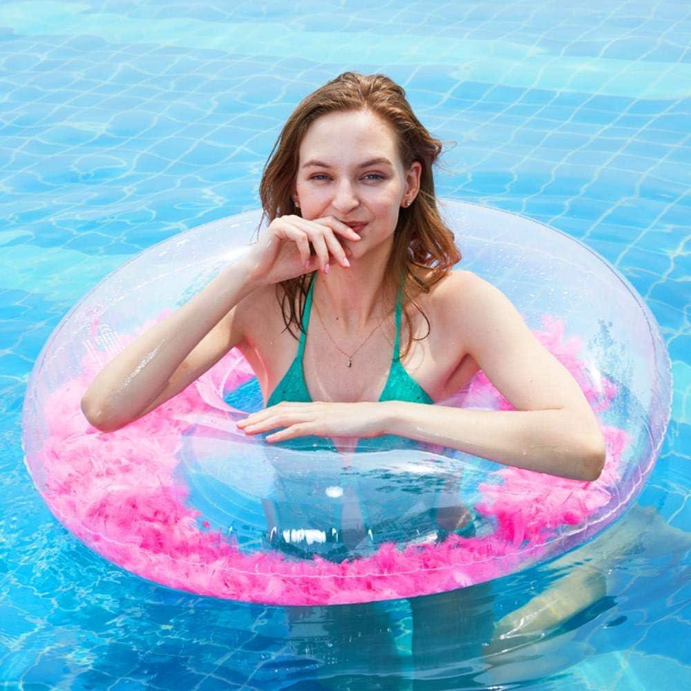HAHAJY Anillo de natación de Plumas Inflable Transparente de Agua Verde, 1: Amazon.es: Hogar