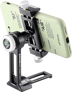 Metal Phone Tripod Mount, iPhone Tripod Adapter, Phone Holder Stand with Arca Swiss Rail, 1/4