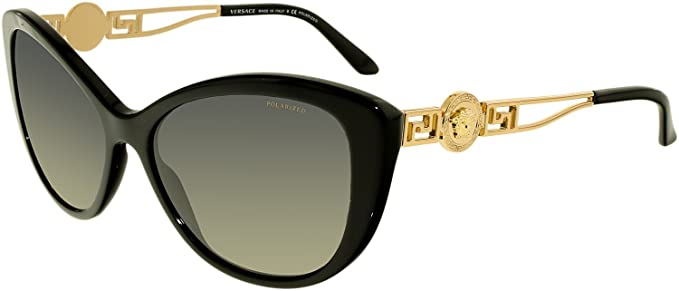 f694b2656b2f Image Unavailable. Image not available for. Colour  Versace Womens  Sunglasses (VE4295 57) Black Grey Acetate ...